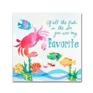 Lisa Powell Braun 'Crab' Canvas Art
