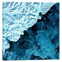 Epic Graffiti 'Earth As Art: Kamchatka Peninsula' Giclee Canvas Wall Art - Blue