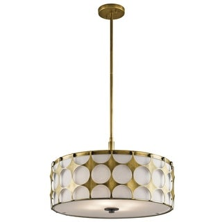 Kichler Lighting Charles Collection 4-light Natural Brass Pendant