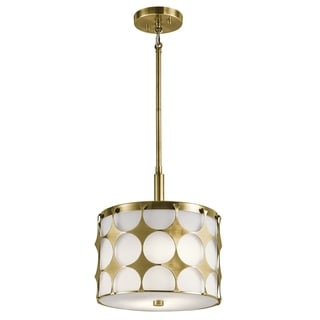 Kichler Lighting Charles Collection 2-light Natural Brass Pendant