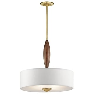 Kichler Lighting Lucille Collection 4-light Natural Brass Pendant