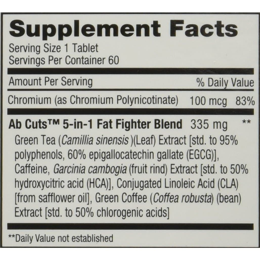 Shop Ab Cuts 5 In 1 Fat Fighter 60 Tablets Overstock 14990233