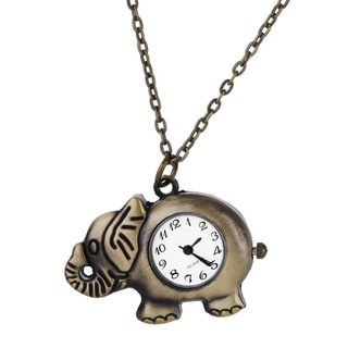 Vintage Bronze Animal Pendant Necklace Watches