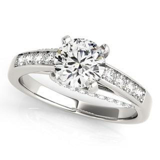 Transcendent Brilliance Infinity Criss Cross Shank Diamond Engagement Ring 14k Gold 1 1/10 TDW