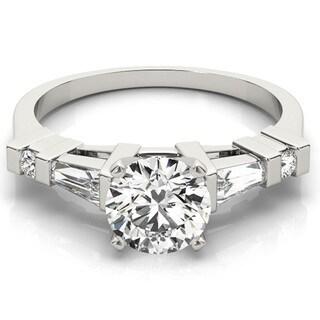 Transcendent Brilliance Tapered Baguettes Three Stone Diamond Engagement Ring 14k Gold 1 1/10 TDW
