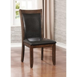 Grover Rustic Brown Cherry Dining Chair (Set of 2) by FOA