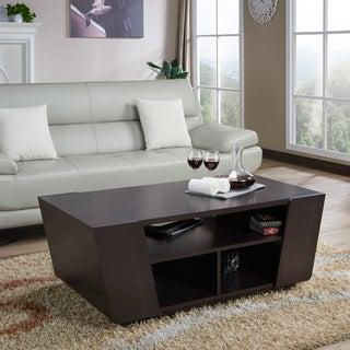 Furniture of America Benae Contemporary Multi-shelf Angled Espresso Coffee Table