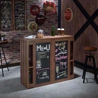 Furniture of America Klicken Contemporary Multi shelf Chalkboard