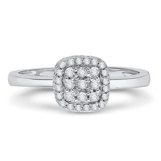 14K White Gold 1/4ct TDW Diamond Composite Ring (G-H, I2-I3)