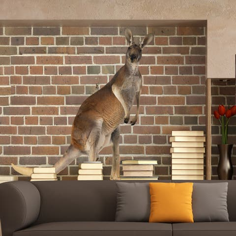 Full Color Standing Kangaroo Full Color Wall Decal Sticker Sticker Decal size 33x33 FRST