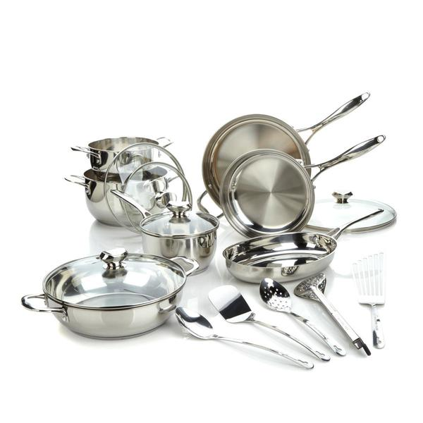 Shop Wolfgang Puck Bistro Elite 17-piece Stainless Steel Cookware ...