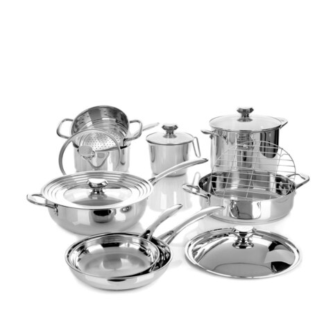 Wolfgang Puck Bistro Elite 14-piece Stainless Cookware Set