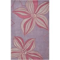 Rug Squared Marietta Violet Area Rug (3'6X5'6) - 4' x 6'