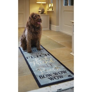 Howler & Scratch Bow Wow Premium Nylon Washable Runner Rug (1'8 x 4'11)