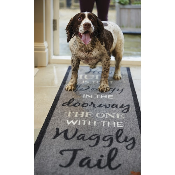 Rug Runner For Dogs: Shop Howler & Scratch Waggy Tail Pet Runner Rug (1'8 X 4