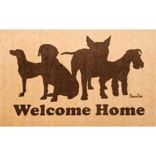 "Doortex Indoor Entrance Mat Welcome Mat with Dog Design Rectangular Size 24"" x 39"""
