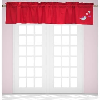 Up & Up Red Window Valance