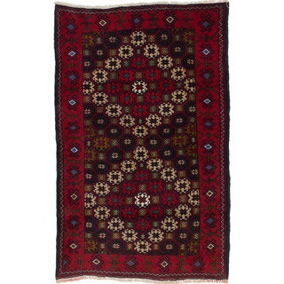 Ecarpetgallery Hand-Knotted Finest Baluch Brown Wool Rug (3'1 x 4'10)