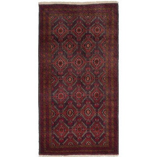 Ecarpetgallery Hand-Knotted Finest Baluch Red Wool Rug (3'2 x 6'1)
