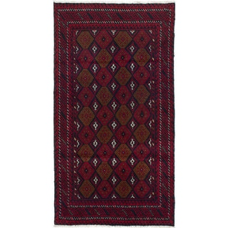 Ecarpetgallery Hand-Knotted Finest Baluch Red Wool Rug (3'3 x 6')