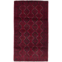 Ecarpetgallery Hand-Knotted Finest Baluch Red Wool Rug (3'5 x 5'11)