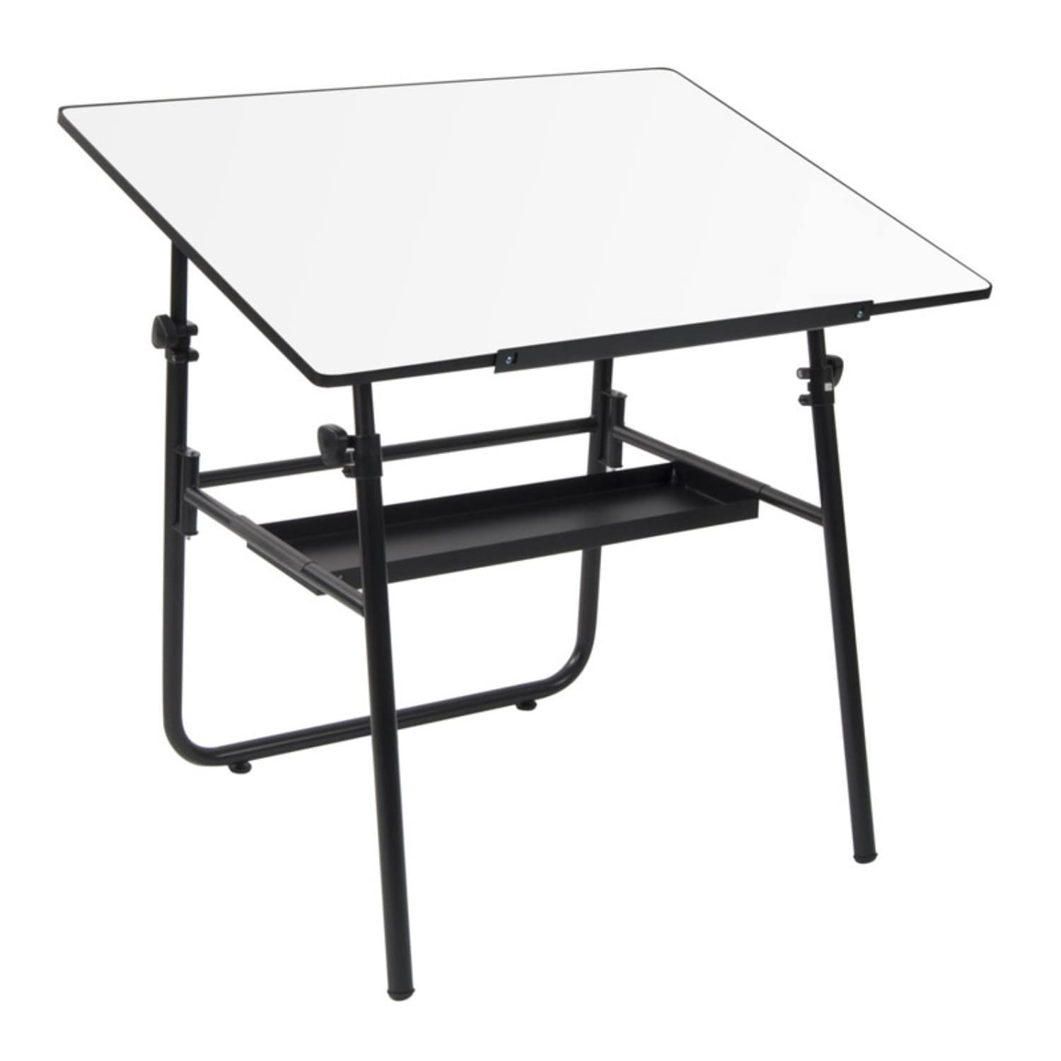 Offex Ultima Fold-away White Computer Table with Tray (Ta...