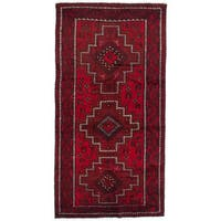 Ecarpetgallery Hand-Knotted Finest Baluch Red Wool Rug (3'8 x 7'3)