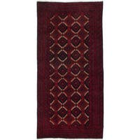 Ecarpetgallery Hand-Knotted Finest Baluch Red Wool Rug (3'1 x 6'6)