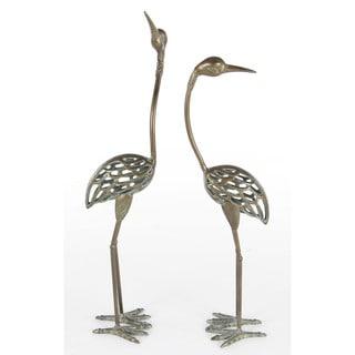 Mesmeric Standing Birds Figurine, Set Of 2
