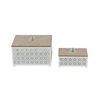 Awe-Inspiring Metal Wood Boxset Of 2