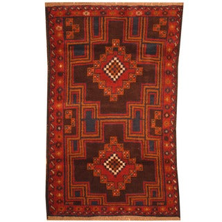 Handmade One-of-a-Kind Balouchi Wool Rug (Afghanistan) - 3' x 4'7