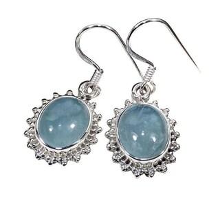 Handmade Sterling Silver Aquamarine EArrings (India)