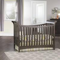 London Euro Style Matte White Stationary Crib Free