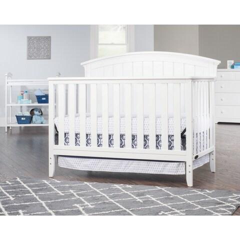 Child Craft Delaney 4-in-1 Convertible Crib, Matte White