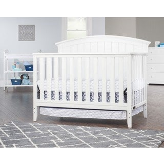 Child Craft Delaney 4-in-1 Convertible Crib, Matte White