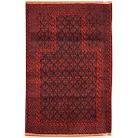 Handmade Herat Oriental Afghan Tribal Balouchi Wool Rug (Afghanistan) - 3'1 x 4'9