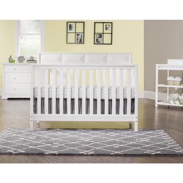 Child Craft Elin Matte White 4-in-1 Convertible Crib