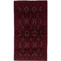 Ecarpetgallery Hand-Knotted Finest Baluch Red Wool Rug (3'1 x 5'8)