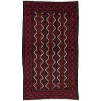 Ecarpetgallery Hand-Knotted Finest Baluch Red Wool Rug (3'1 x 5'4)