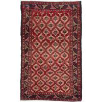 Ecarpetgallery Hand-Knotted Finest Baluch Red Wool Rug (2'9 x 4'8)
