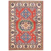 Handmade Herat Oriental Afghan Vegetable Dye Kazak Wool Rug (Afghanistan) - 2'9 x 3'11