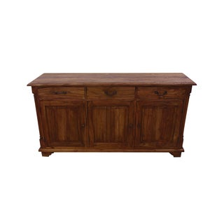 Handmade NES Fine Furniture Solid Teak Wood Sibolga Buffet / Cabinet - 63 inches (Indonesia)