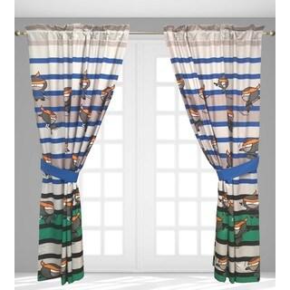 Ninja 4-Piece Window Curtain Panel Set