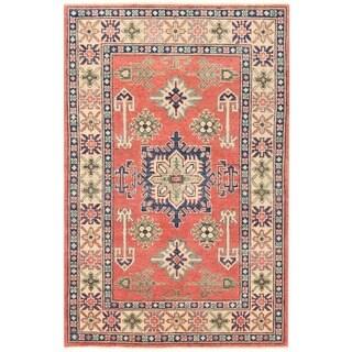 Herat Oriental Afghan Hand-knotted Vegetable Dye Kazak Wool Rug (3'2 x 4'11)