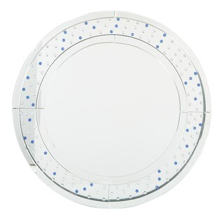 Decorative Silver Frame Round Wall Mirror
