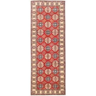 Herat Oriental Afghan Hand-knotted Vegetable Dye Kazak Wool Runner (5'4 x 14'10)