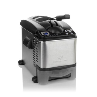 Wolfgang Puck 3.5 Liter Digital Stainless Steel Deep Fryer with on-board Oil Drain System (Refurbished)