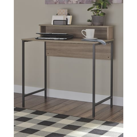 Titania Casual Home Office Small Desk, Grayish Brown
