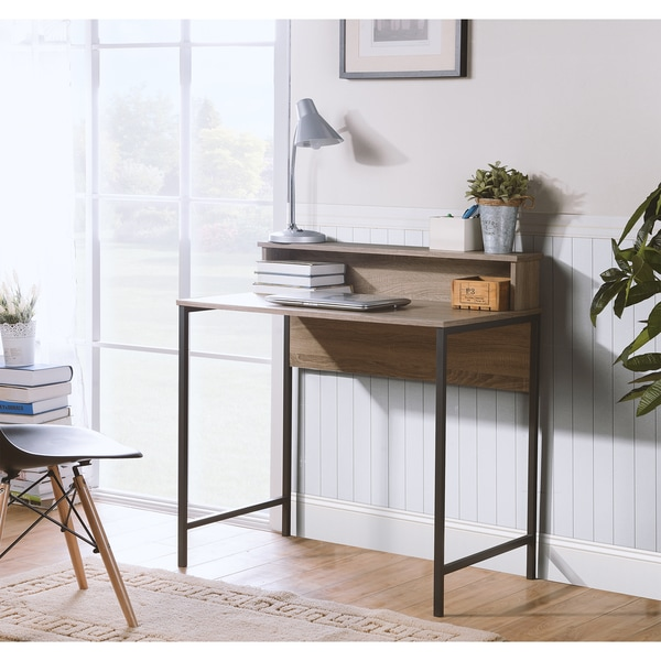 Ordinaire Titania Particle Board And Powder Coated Metal Reclaimed Wood Finish  Computer Desk With Built