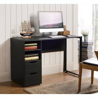 black writing desk. Viola Black Oak Writing Desk